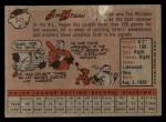 1958 Topps #345  Jim Hegan  Back Thumbnail