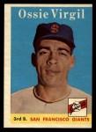 1958 Topps #107  Ossie Virgil  Front Thumbnail