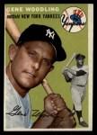 1954 Topps #101  Gene Woodling  Front Thumbnail