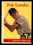 1958 Topps #108 WT Jim Landis  Front Thumbnail