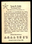 1961 Golden Press #25  Ty Cobb  Back Thumbnail