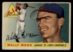 1955 Topps #67 xDOT  Wally Moon  Front Thumbnail