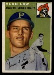1954 Topps #235  Vern Law  Front Thumbnail