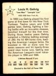 1961 Golden Press #16  Lou Gehrig  Back Thumbnail