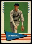 1961 Fleer #95  Tommy Bridges  Front Thumbnail