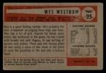 1954 Bowman #25 3B Wes Westrum  Back Thumbnail