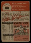 1953 Topps #88  Willie Jones  Back Thumbnail