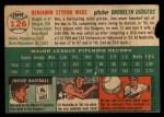 1954 Topps #126  Ben Wade  Back Thumbnail