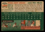 1954 Topps #104  Mike Sandlock  Back Thumbnail