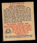 1949 Bowman #30  Andy Seminick  Back Thumbnail