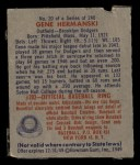 1949 Bowman #20  Gene Hermanski  Back Thumbnail
