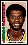 1976 Topps #100  Kareem Abdul-Jabbar  Front Thumbnail