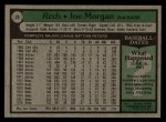 1979 Topps #20  Joe Morgan  Back Thumbnail