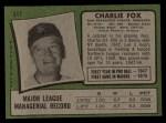 1971 Topps #517  Charlie Fox  Back Thumbnail