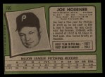 1971 Topps #166  Joe Hoerner  Back Thumbnail