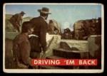 1956 Topps Davy Crockett #55 GRN  Driving 'Em Back  Front Thumbnail