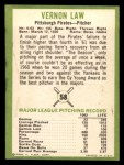 1963 Fleer #58  Vern Law  Back Thumbnail