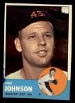1963 Topps #352  Ken Johnson  Front Thumbnail