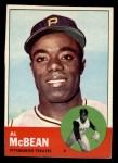 1963 Topps #387 *ERR* Al McBean  Front Thumbnail