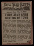 1962 Topps Civil War News #44   Shot to Death Back Thumbnail