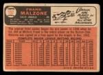 1966 Topps #152  Frank Malzone  Back Thumbnail