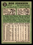1967 Topps #38 ^COR^ Bob Johnson  Back Thumbnail