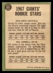 1967 Topps #341   -  Dick Dietz / Bill Sorrell Giants Rookies Back Thumbnail