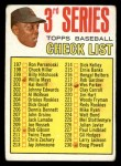 1967 Topps #191 DIC  -  Willie Mays Checklist 3 Front Thumbnail