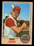 1968 Topps #508  Duke Sims  Front Thumbnail