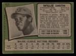 1971 Topps #457  Willie Smith  Back Thumbnail