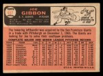 1966 Topps #457  Joe Gibbon  Back Thumbnail