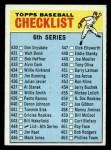 1966 Topps #444 ERR  Checklist 6 Front Thumbnail