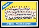 1966 Topps #526   Twins Team Front Thumbnail