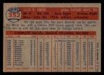 1957 Topps #352  Ellis Kinder  Back Thumbnail
