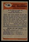 1955 Bowman #80  Chuck Drazenovich  Back Thumbnail