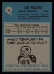 1964 Philadelphia #46  Lee Folkins  Back Thumbnail