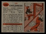 1957 Topps #100  Joe Childress  Back Thumbnail