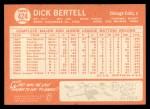 1964 Topps #424  Dick Bertell  Back Thumbnail