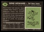 1969 Topps #149  Gene Howard  Back Thumbnail