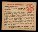 1950 Bowman #97  George Connor  Back Thumbnail