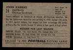 1952 Bowman Small #24  John Karras  Back Thumbnail