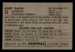 1952 Bowman Small #55  Andy Davis  Back Thumbnail