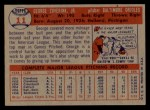 1957 Topps #11  George Zuverink  Back Thumbnail