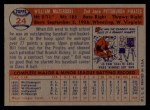 1957 Topps #24  Bill Mazeroski  Back Thumbnail