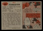 1957 Topps #69  Bill Forester  Back Thumbnail