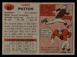1957 Topps #83  Jim Patton  Back Thumbnail