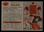 1957 Topps #13  Dick Bielski  Back Thumbnail