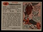 1957 Topps #39  George Tarasovic  Back Thumbnail