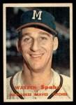 1957 Topps #90  Warren Spahn  Front Thumbnail