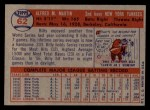 1957 Topps #62  Billy Martin  Back Thumbnail